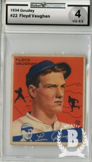 1934 Goudey #22 Arky Vaughan