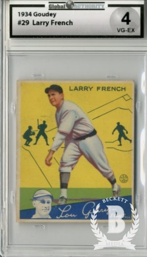 1934 Goudey #29 Larry French RC