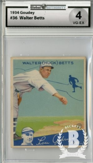 1934 Goudey #36 Walter Betts RC