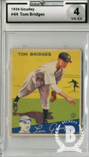 1934 Goudey #44 Tom Bridges