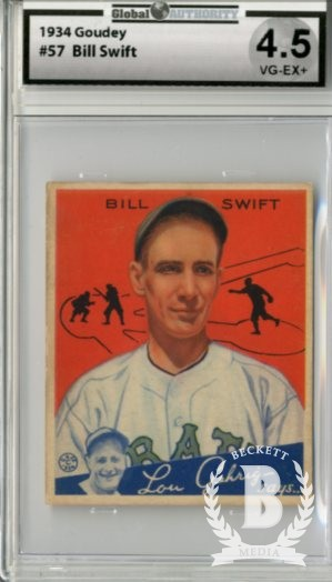 1934 Goudey #57 Bill Swift RC