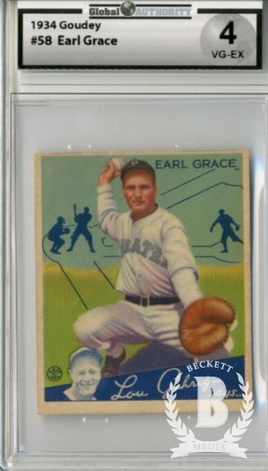1934 Goudey #58 Earl Grace RC