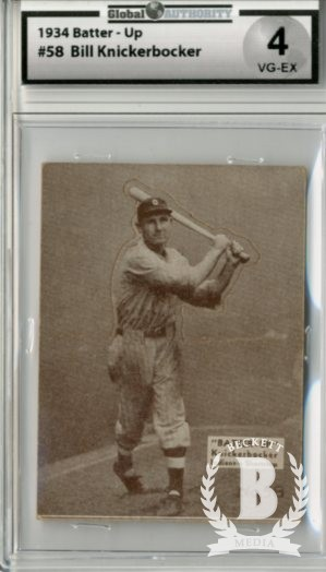 1934-36 Batter-Up #58 Bill Knickerbocker XRC
