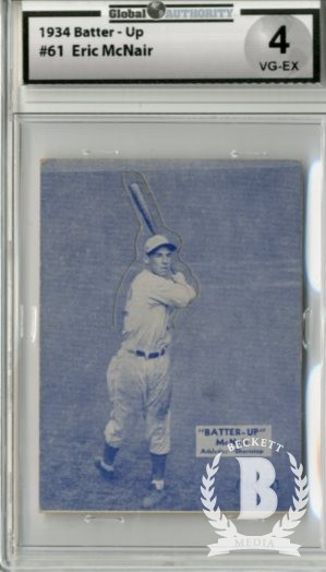 1934-36 Batter-Up #61 Rabbit McNair XRC
