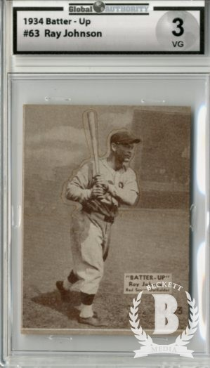 1934-36 Batter-Up #63 Roy Johnson