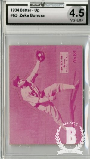 1934-36 Batter-Up #65 Zeke Bonura XRC