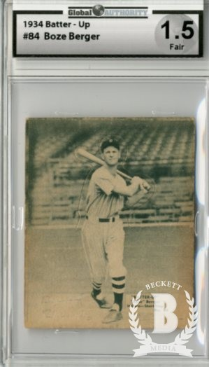 1934-36 Batter-Up #84 Boze Berger XRC