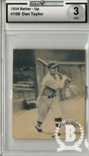 1934-36 Batter-Up #108 Don Taylor XRC