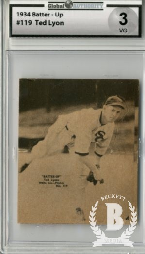1934-36 Batter-Up #119 Ted Lyons