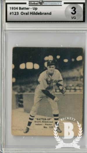 1934-36 Batter-Up #123 Oral Hildebrand XRC