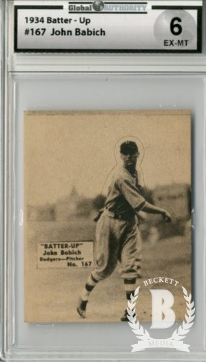 1934-36 Batter-Up #167 John Babich XRC