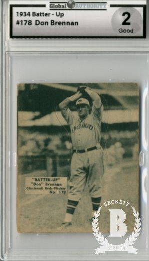 1934-36 Batter-Up #178 Don Brennan XRC