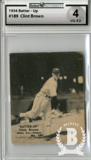 1934-36 Batter-Up #189 Clint Brown XRC