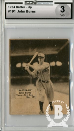 1934-36 Batter-Up #191 John Burns XRC