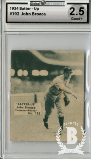 1934-36 Batter-Up #192 John Broaca XRC