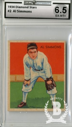 1934-36 Diamond Stars #2B Al Simmons/36B/No name on uniform