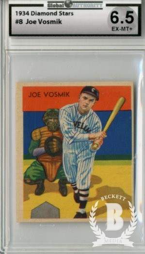 1934-36 Diamond Stars #8 Joe Vosmik XRC (34G,35G,36B)