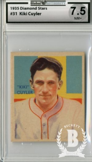 1934-36 Diamond Stars #31A Kiki Cuyler 35G/Chicago Cubs