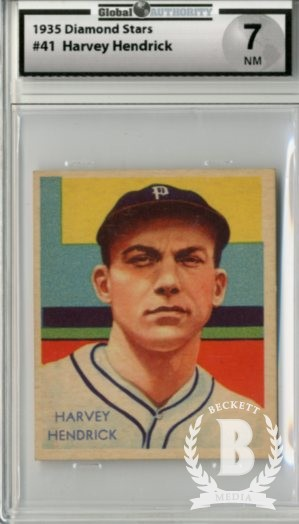 1934-36 Diamond Stars #41 Harvey Hendrick XRC (35G)