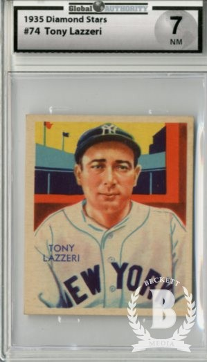 1934-36 Diamond Stars #74 Tony Lazzeri/35G, 35B, 36B