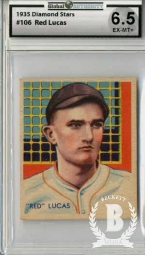 1934-36 Diamond Stars #106 Red Lucas (36B)