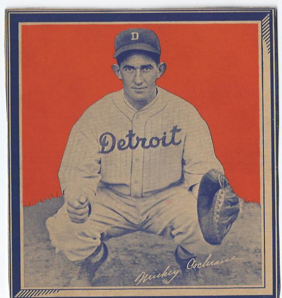 1935 Wheaties BB1 #5A Mickey Cochrane {blk. hat)