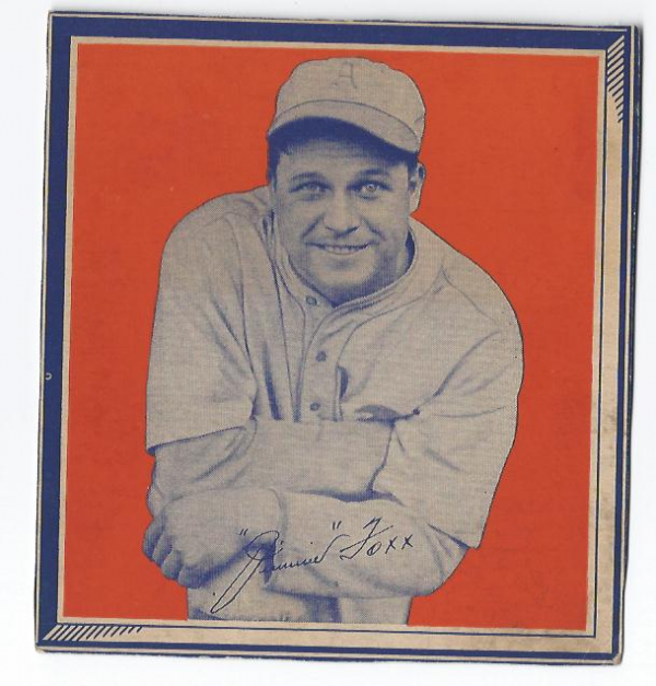 1935 Wheaties BB1 #11 Jimmie Foxx/(facing camera/knee up)