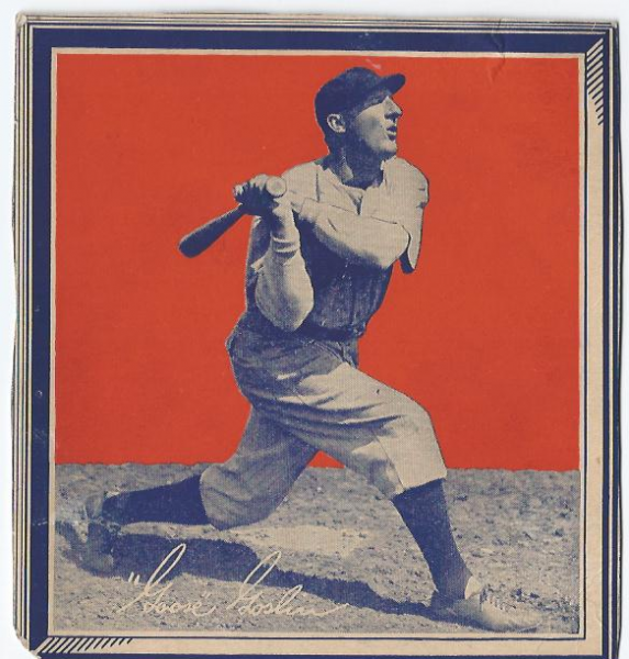 1935 Wheaties BB1 #14 Goose Goslin/(batting)