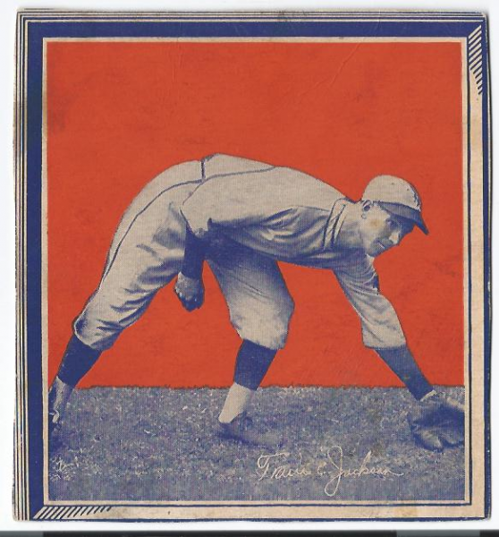 1935 Wheaties BB1 #17 Travis  Jackson/(stooping to field)