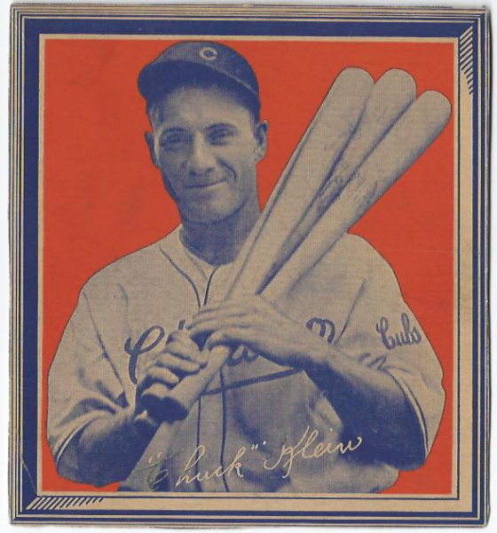 1935 Wheaties BB1 #18 Chuck Klein/(with four bats)