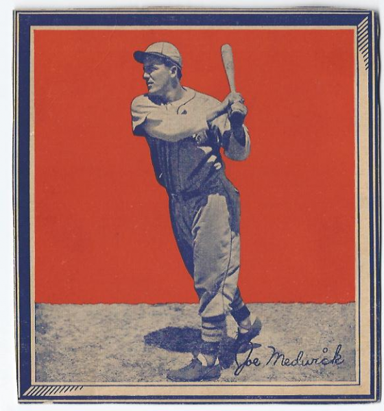 1935 Wheaties BB1 #21 Joe Medwick/(batting follow/through)