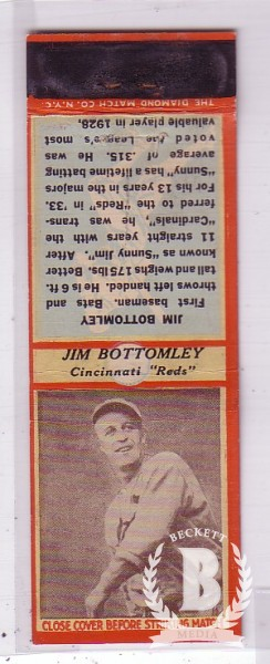 1935-36 Diamond Match Co. Series 3 Type 1 #14 Jim Bottomley