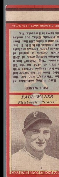 1935-36 Diamond Match Co. Series 3 Type 1 #145 Paul Waner