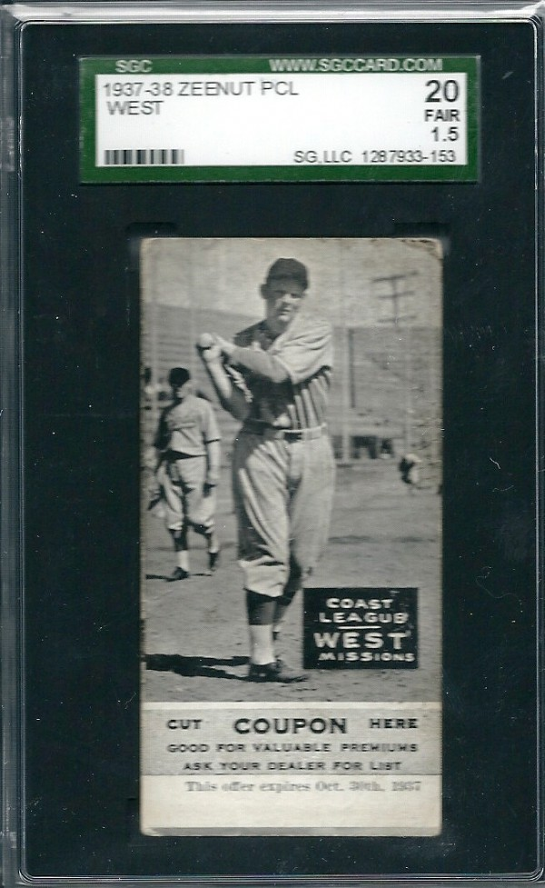 1937-38 Zeenut #29 Max West