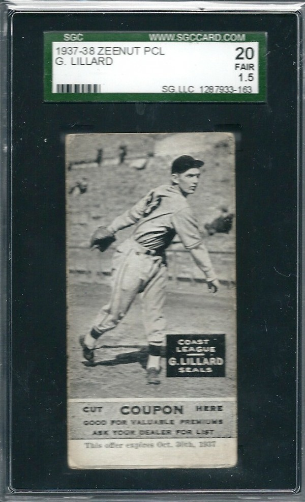 1937-38 Zeenut #79 Gene Lillard