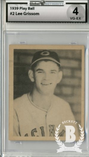 1939 Play Ball #2 Lee Grissom RC