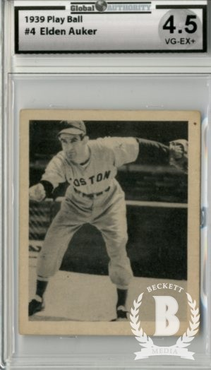 1939 Play Ball #4 Eldon Auker RC