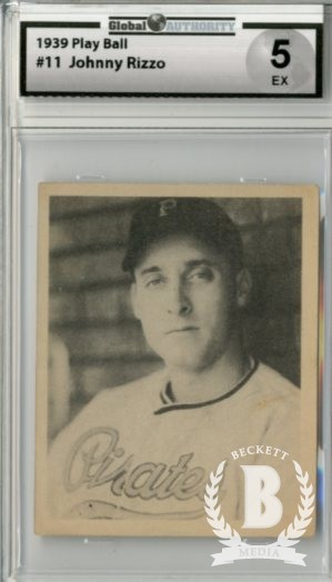 1939 Play Ball #11 Johnny Rizzo RC