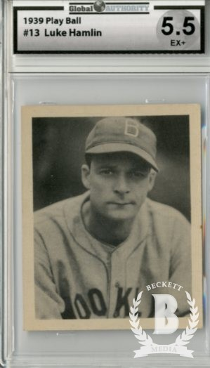 1939 Play Ball #13 Luke Hamlin RC