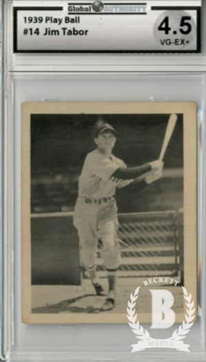 1939 Play Ball #14 Jim Tabor RC