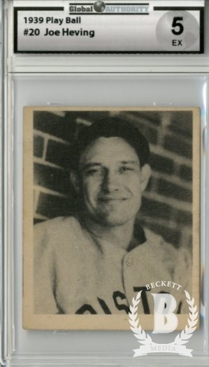 1939 Play Ball #20 Joe Heving RC