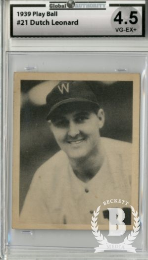 1939 Play Ball #21 Dutch Leonard RC