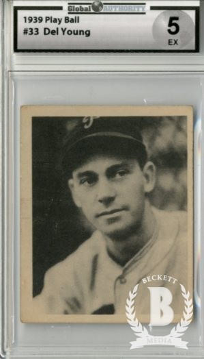1939 Play Ball #33 Del Young RC