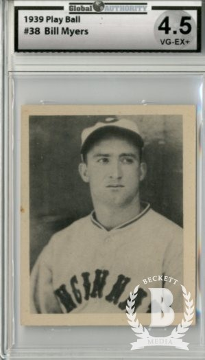 1939 Play Ball #38 Billy Myers RC
