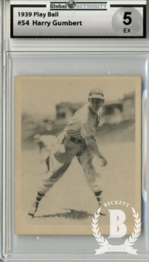 1939 Play Ball #54 Harry Gumpert RC