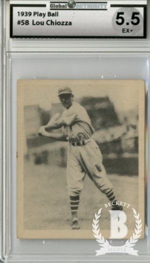 1939 Play Ball #58 Lou Chiozza RC