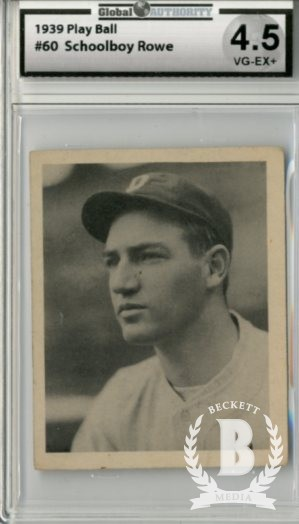 1939 Play Ball #60 Schoolboy Rowe RC