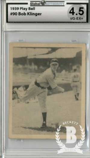 1939 Play Ball #90 Robert Klinger RC