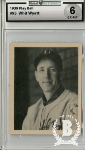 1939 Play Ball #95 Whit Wyatt RC