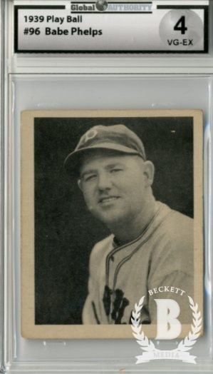 1939 Play Ball #96 Babe Phelps RC